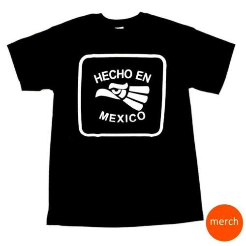 Hecho En Mexico Made in Mexico Mens Black and White Cotton T-Shirt Tee T Shirt