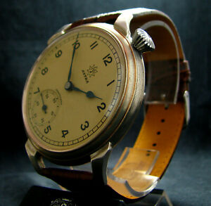 4095-JUNGHANS-ASTRA-Vintage-WWII-Era-Large-Driver-039-s-Wristwatch