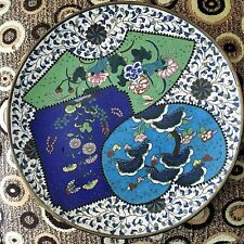 Superb Antique 19th cent. Chinese or Japanese Large Cloisonne Plaque or Bowl