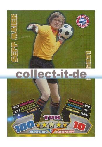Match Attax 12//13-526-SEPP MAIER-FC Bayern Munich-Légende