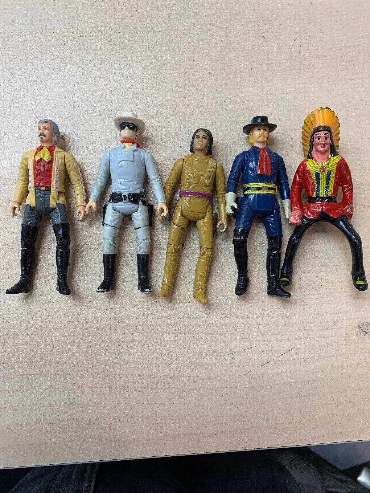 Vintage 1980 The Legend of the Lone Ranger 5 Figures
