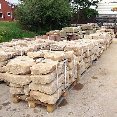 SchöN 1,2 T Gelbe Sandsteine € 360/t Trockenmauer Natursteinmauer Outdoorküche Ruine Terrassen- & Gehwegmaterialien Mauern
