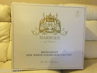 Harrods Mongolian White Goose Down Duvet Double Long 2.5 Tog Rrp £1299