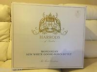 Harrods Mongolian White Goose Down Duvet Single Long 4.5 Tog Rrp £899