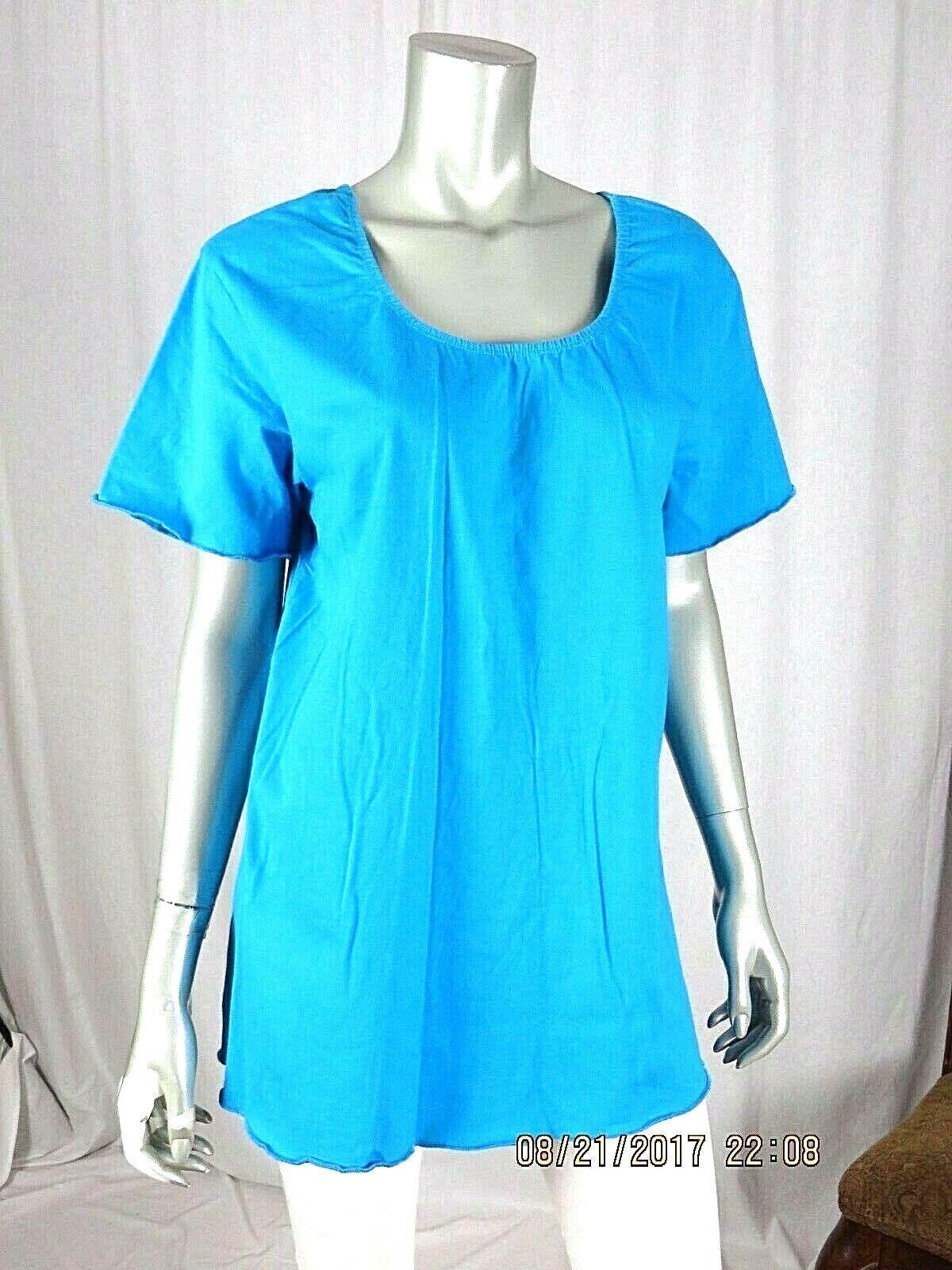 VENEZIA VITALE SZ L 100% Cotton Turquoise Blue Ru… - image 3