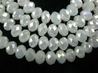 Lot Glass 5040# Crystal Faceted Rondelle Spacer Loose Beads 3mm/4mm/6mm/8mm