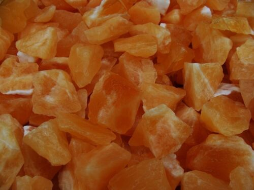 A FREE Faceted Gem 3000 Carat Lots of Unsearched Natural Orange Calcite Rough