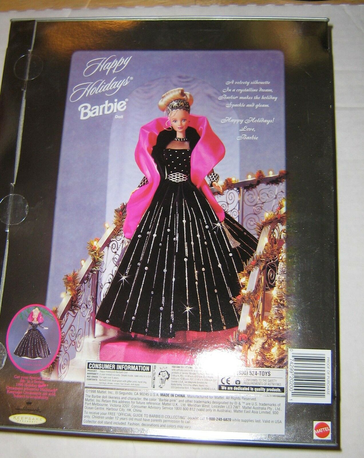 BARBIE SPECIAL EDITION HAPPY DOLL HOLIDAYS COLLECTIBLE DOLL HAPPY - 1998 dddb85