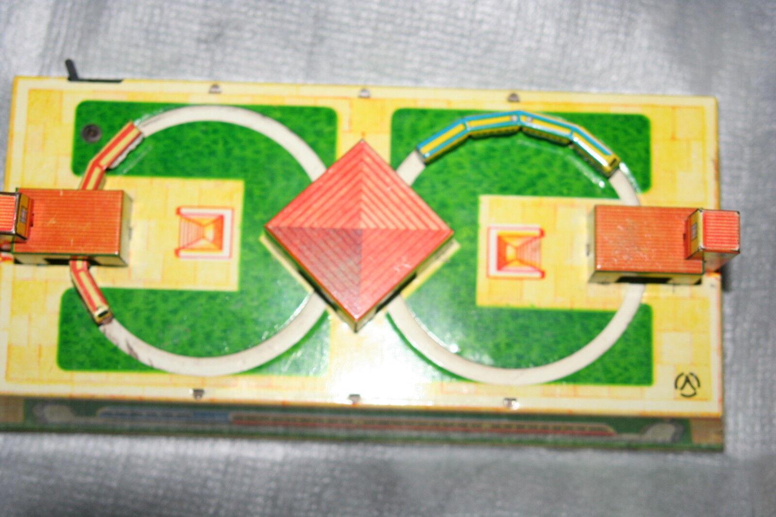 Raro impresionante Vintage De Hojalata De Cuerda Tren De Juguete