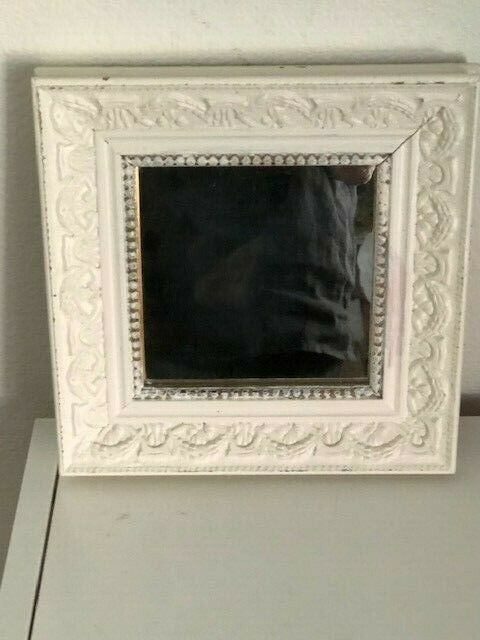 Large 23 Distressed Shabby Chic White Styrene Oval Ornate Wall Mirror For Sale Online Ebay
