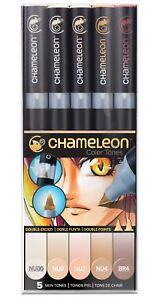 Chameleon-tonos-de-color-5-Juego-Boligrafo-alcohol-mezcla-Gradiente-tonos-de-color-de-la-piel