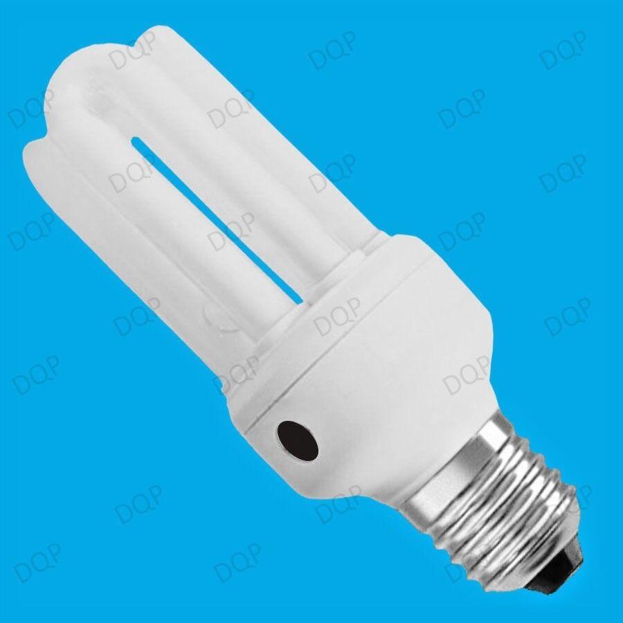 9x 15W sensor de baja energía CFL Dusk Amanecer Fotocélula Bombilla ES E27 Lámpara de Seguridad