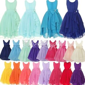 Flower-Girls-Princess-Dress-Kids-Party-Pageant-Wedding-Bridesmaid-Formal-Dresses