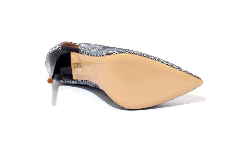 Isabelle 801h Azul Marino blancoo Gamuza Zapatos De Taco Taco Taco bombas Puntera Puntiaguda 38.5 US 8.5 58cdad