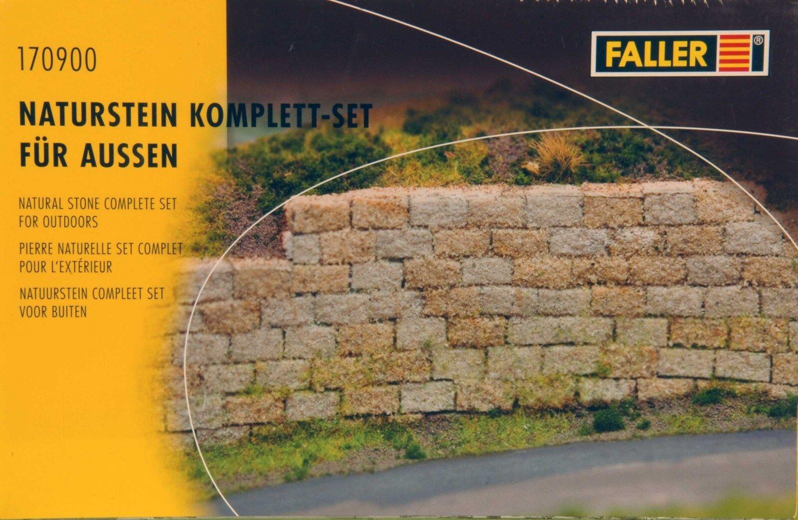 Faller 170900 170900 170900 Bausatz Spur G Naturstein Komplett Set für Außen Neu in OVP  | eine breite Palette von Produkten  045778