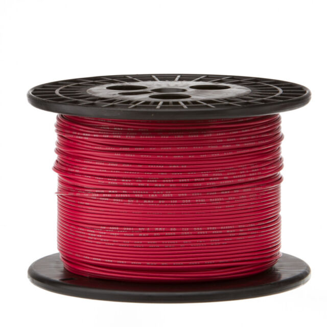 """24 AWG Gauge Stranded Hook Up Wire White 250 ft 0.0201/"""" PTFE 600 Volts"""