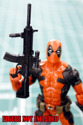 Custom Arsenal pack resin black cast 1:12 sub machine gun rifle