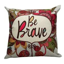 Courage Pillow Case Sofa Waist Throw Cushion Cover Home Decor