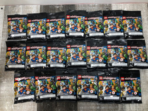 71026 Lot Of LEGO Minifigures DC Super Heroes 20 New Sealed /& Un-searched
