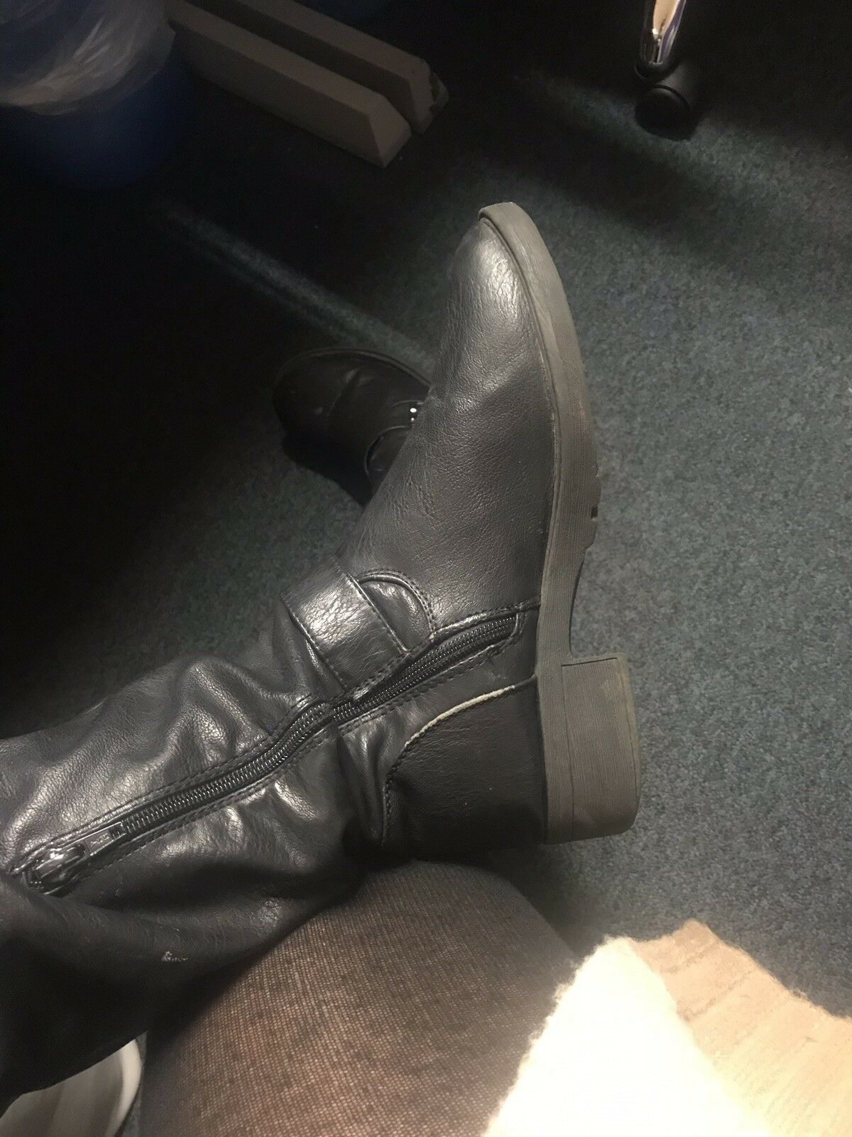 Well Worn, Very Old, Black Leather Women's  Boots