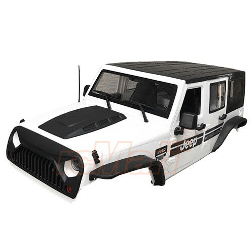 Xtra Speed Jeep Hard Body Kit 313mm bianca Ver.2 For SCX10II RC4WD Cars  XS-59765