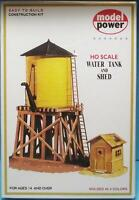 Ho Scale-model Power-428-water Tank & Shed Model Building Kit-molded In 4 Colors