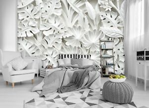 Details zu Alabaster flowers 3D WALLPAPER huge photo mural wallpaper  BEDROOM wall art