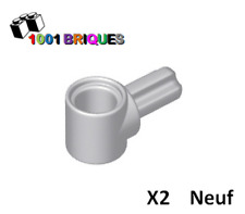 Axle and Pin Connector Hub with 1 Axle Light Bluish Grey Lego 22961 x2 Technic