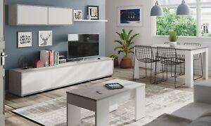 Pack mobiliario salon mueble modular mesa centro y mesa comedor ...