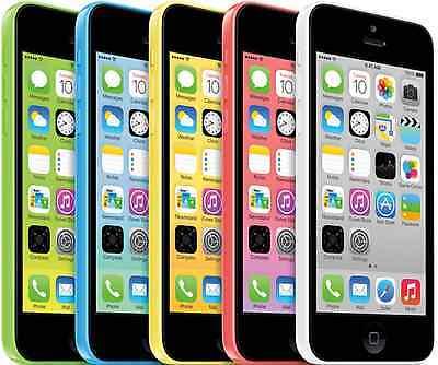 Apple iPhone 5c - 32GB (GSM Unlocked) Smartphone - White Blue Green Yellow Pink