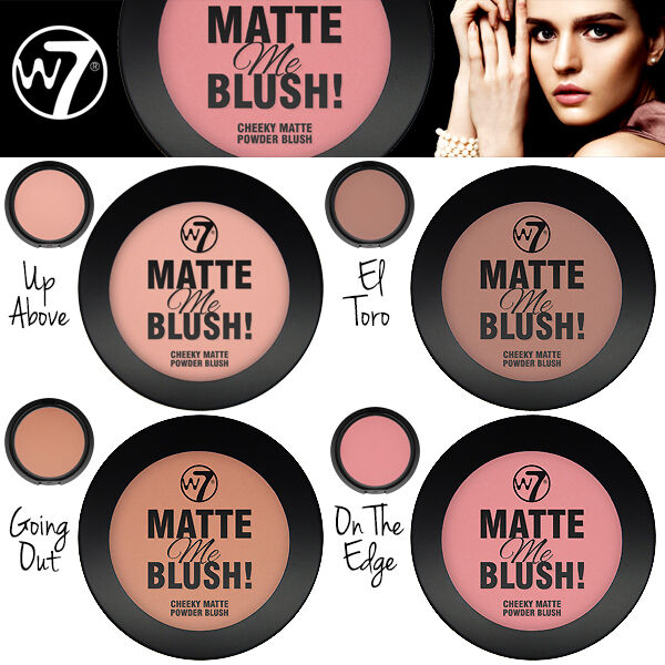 W7 Make UP - Compact Cheeky Matte Me Blush Powder - Blusher - Choose Your Shade