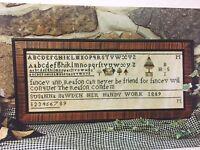 Goode Huswife Susanna Bawden 1809 Sampler Cross Stitch Pattern