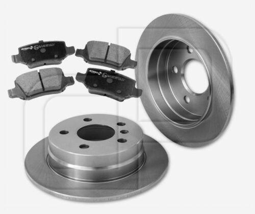 2 Bremsscheiben 4 Bremsbeläge MERCEDES A-Klasse W169 hinten  258 mm voll