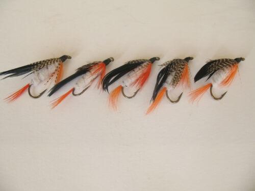 5 x missionnaire truite leurres sur Taille 8 queue longue Crochets