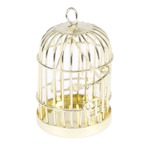 1:12 Dollhouse miniature furniture metal bird cage for dollhouse decor  RD