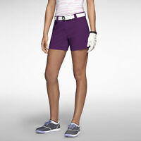 Nike Golf Womens Modern Rise Sporty Shorts 618149 502 Purple Sz Size 14