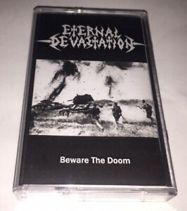 Eternal-Devastation-Beware-The-Doom-Cassette-Death-Thrash-Metal-French-Brazil