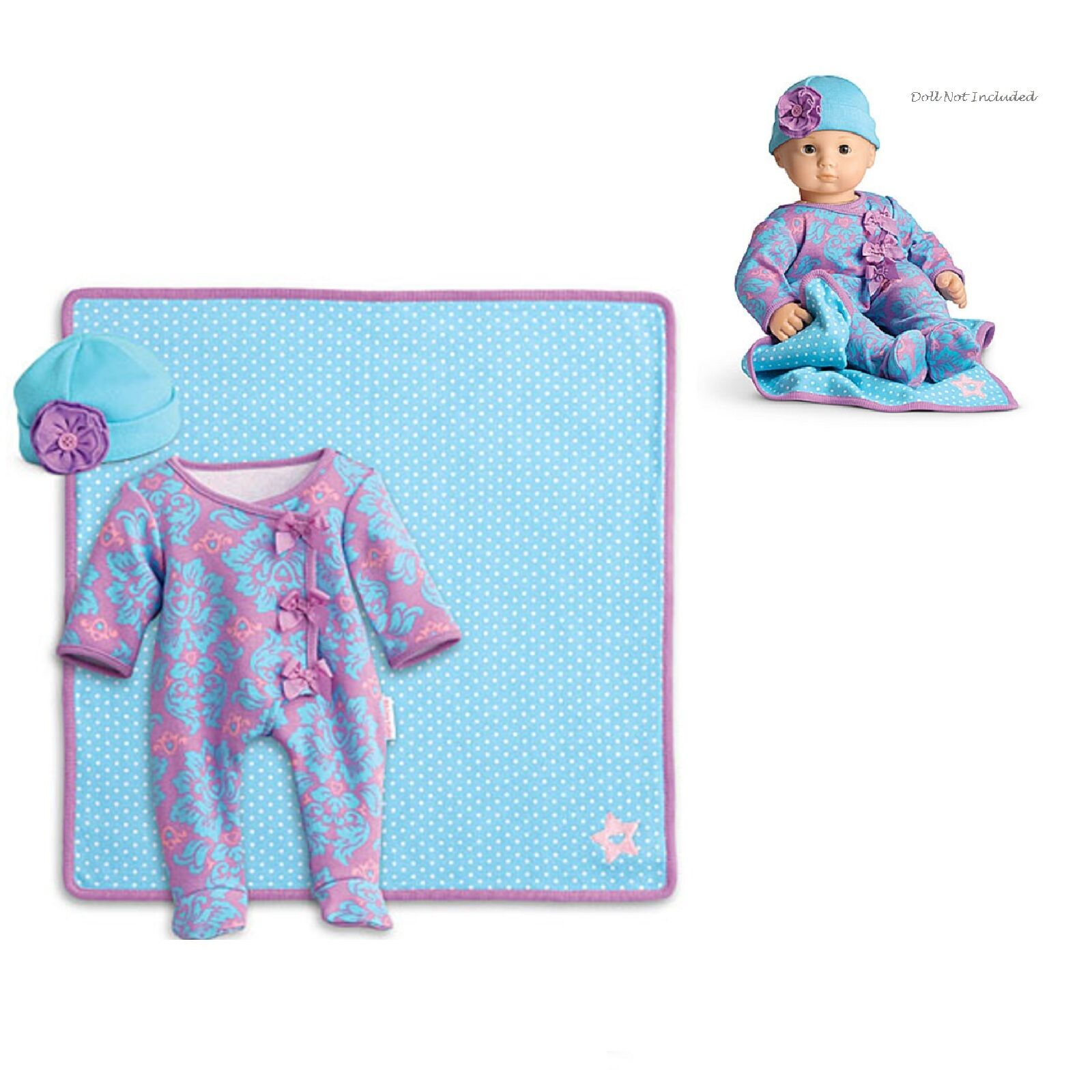 American Girl Bitty Baby Frisch Blüten Set für 38.1cm Puppen Kleidung Schläfer