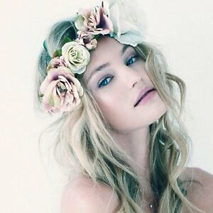 Boho-Floral-Flower-Crown-Headband-Hair-Garland-Wedding-Party-Headpiece-Hairband