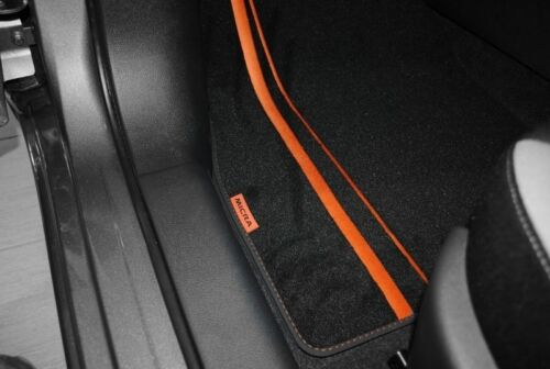 Nissan Micra K14 2017 on Velour Carpet Mats Orange New and Genuine KE7555F001OR
