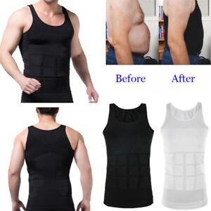 Mens-Body-Shaper-Compression-Vest-Shirt-Elastic-Slim-Tank-Top-Corset-Shapewear
