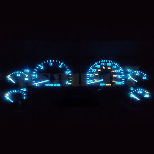 Blue dash lights
