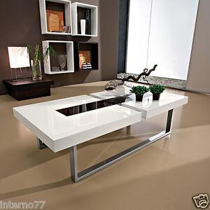 Tavolo Moderno Legno E Vetro.Julie Tavolino Moderno Da Salotto In Legno E Vetro Ta346 Ebay