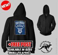 Ford Genuine Parts Zip Up Hoodie Jacket Xl/2xl/3xl/4xl/5xl/6xl/7xl/8xl/9xl