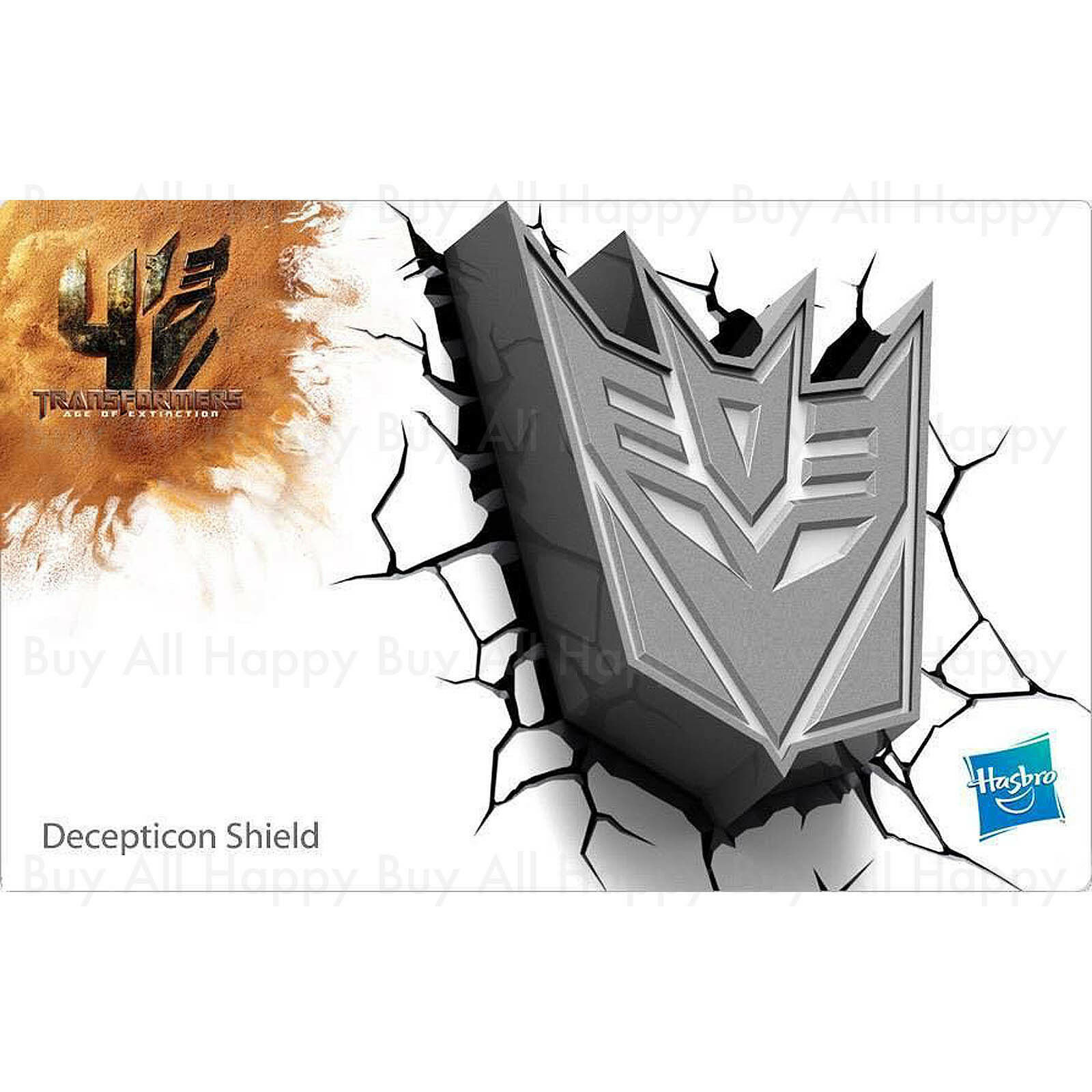 Transformers Decepticon Shield 3D FX Deco Wall LED Night Light Nightlight