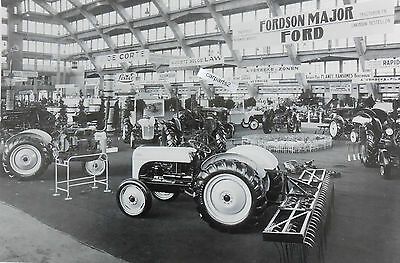 """12 By 18"""" Black & White Picture 8N Ford Tractor Expo"""