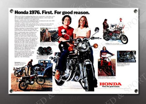 VINTAGE HONDA 1976 IMAGE BANNER NOS IMAGE REPRODUCTION