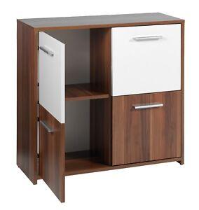 Image Is Loading Crispi Side 4 Door Walnut Amp White Cabinet