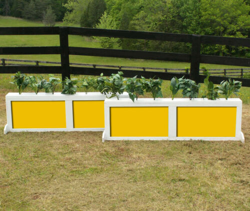 """Horse Jumps Wooden 2 Panel Brush Box Set//2-5ft x 18/"""" Color Choice #408"""