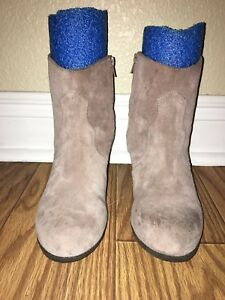 9ba6ba39061f Lucky Brand Womens Ankle Boots Suede Size 8 Us See Description